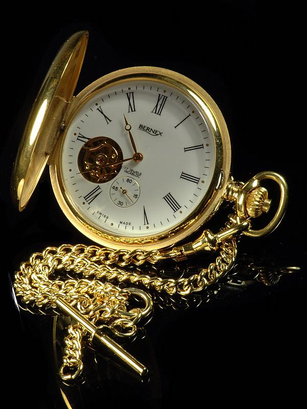 4e2eb469d47 Bernex Full Hunter Pocket Watch - Goodwins Antiques