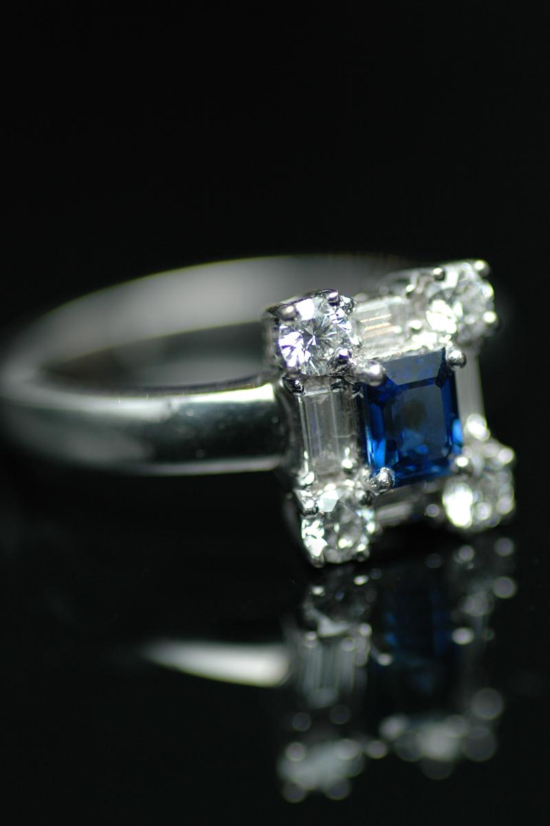 62167 sapphire diamond cluster ring 4