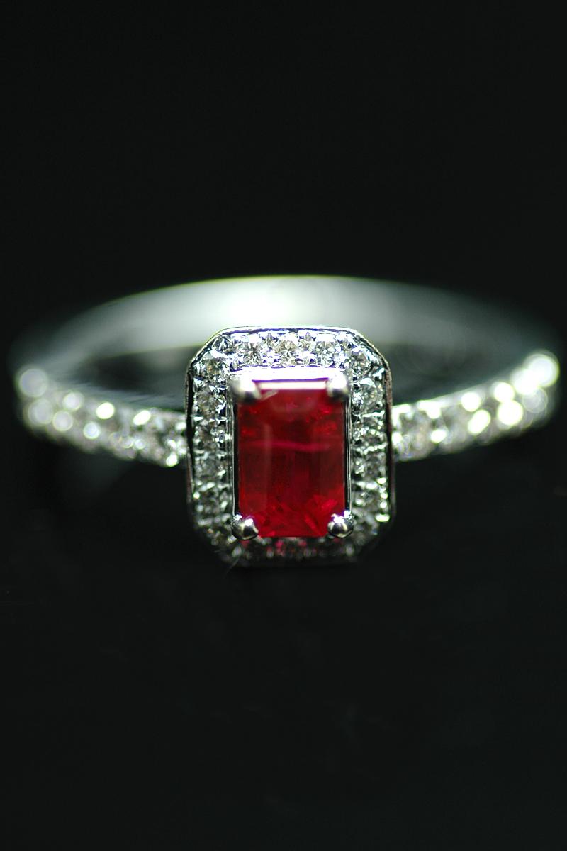 65019 ruby diamond cluster ring 1