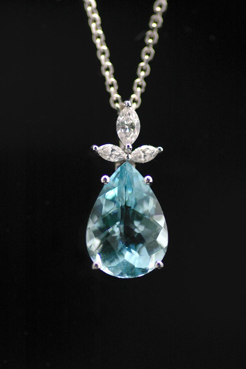 72082 aqua diamond pendant 2