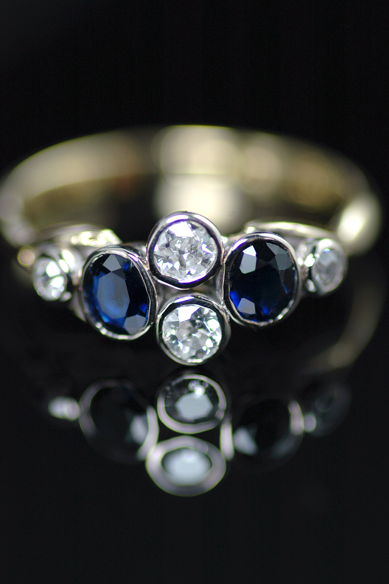 J208 sapphire diamond ring 2