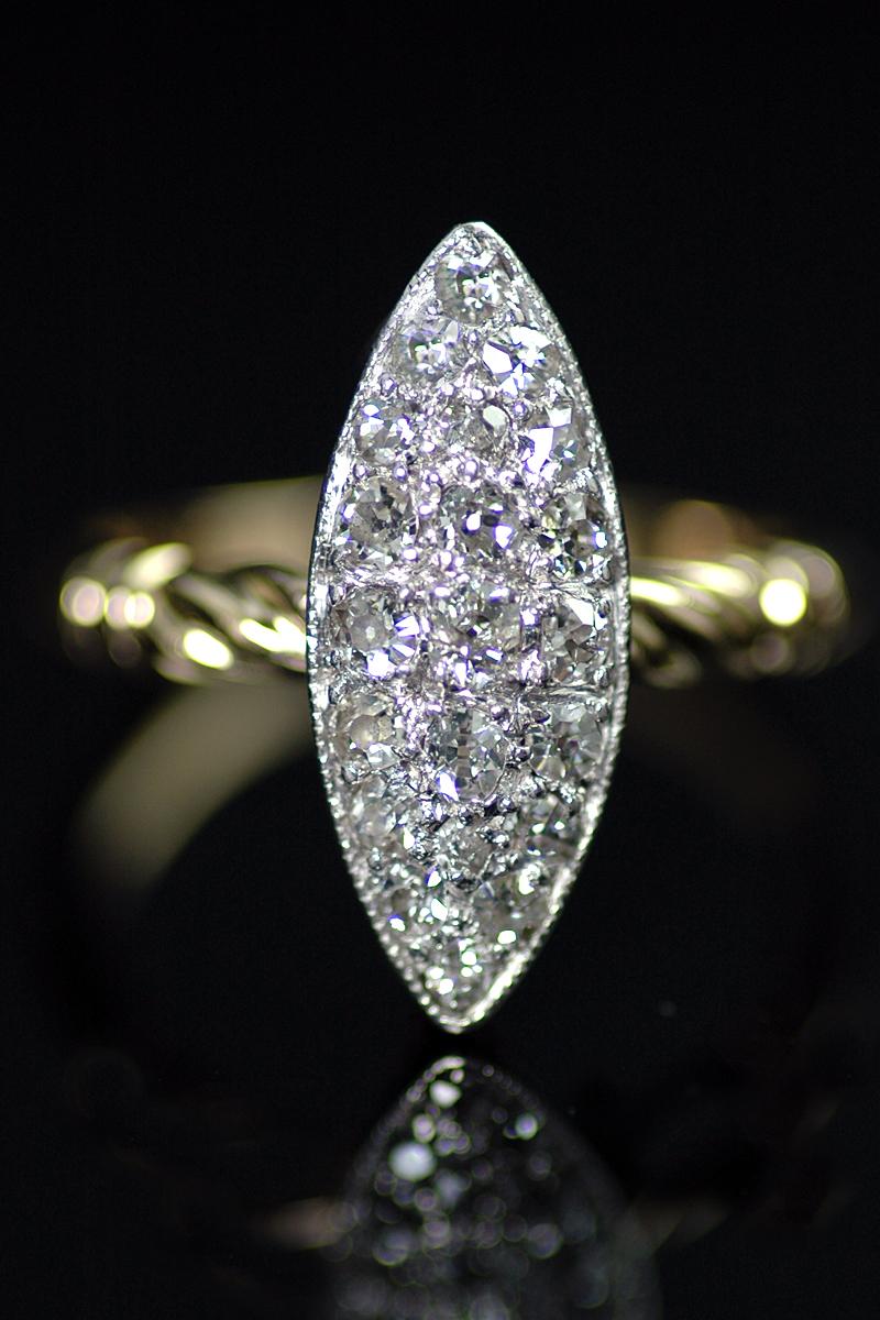 K6 diamond cluster ring 1