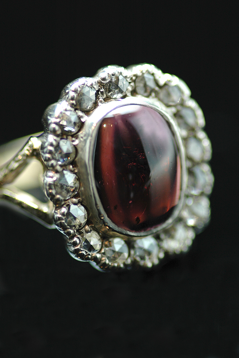 NS diamond garnet ring 2