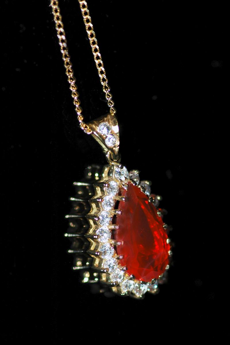 JH:1504 fire opal pendant 3