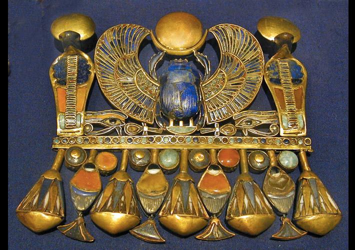 Tutankhamun scarab pectoral piece - discovered 1922