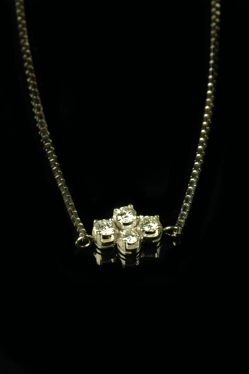 4 stone diamond pendant 2