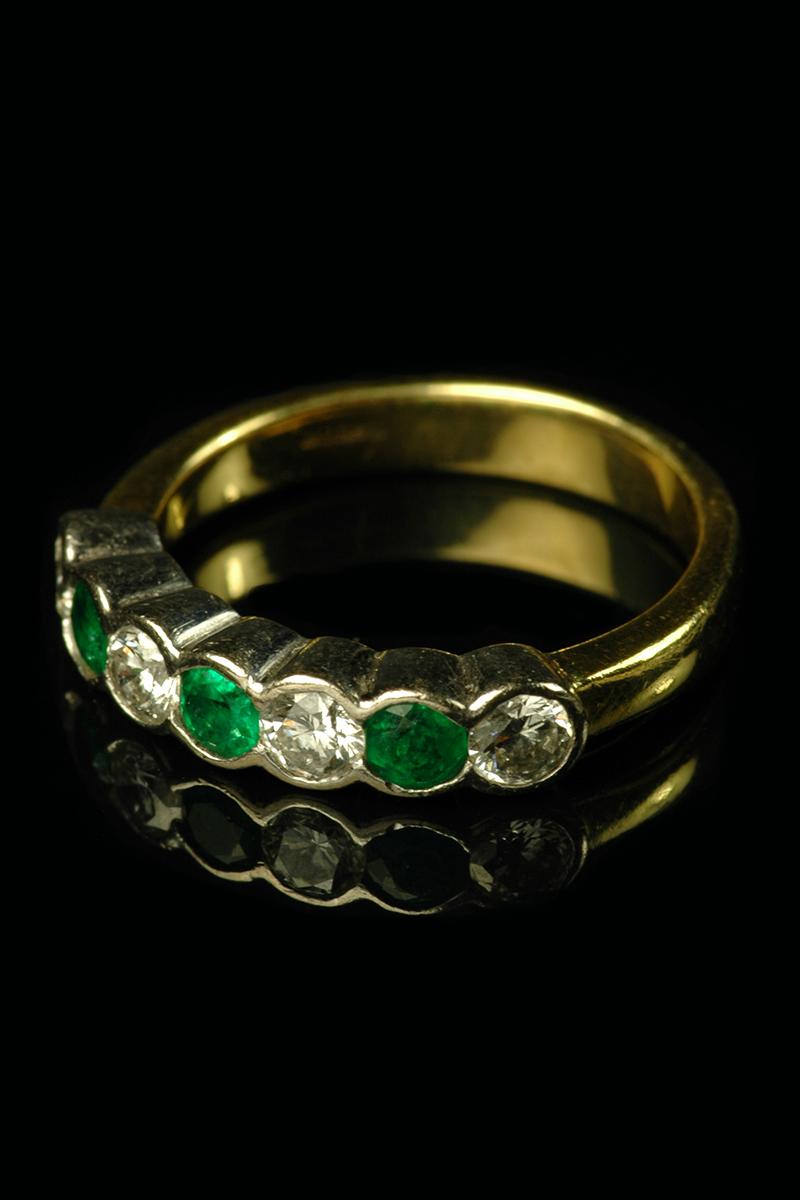 7 stone emerald and diamond ring2