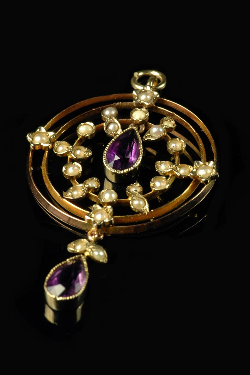 amethyst pearl pendant1
