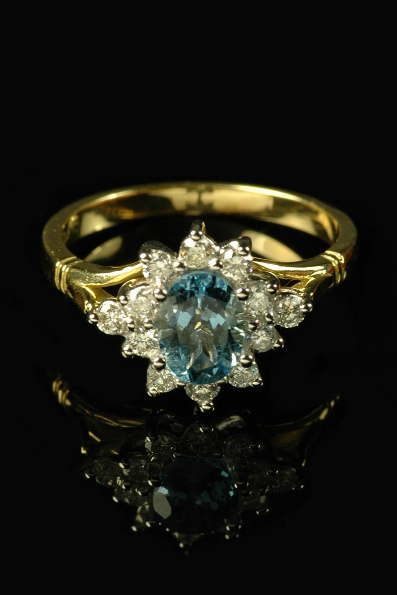 aquamarine diamond cluster3