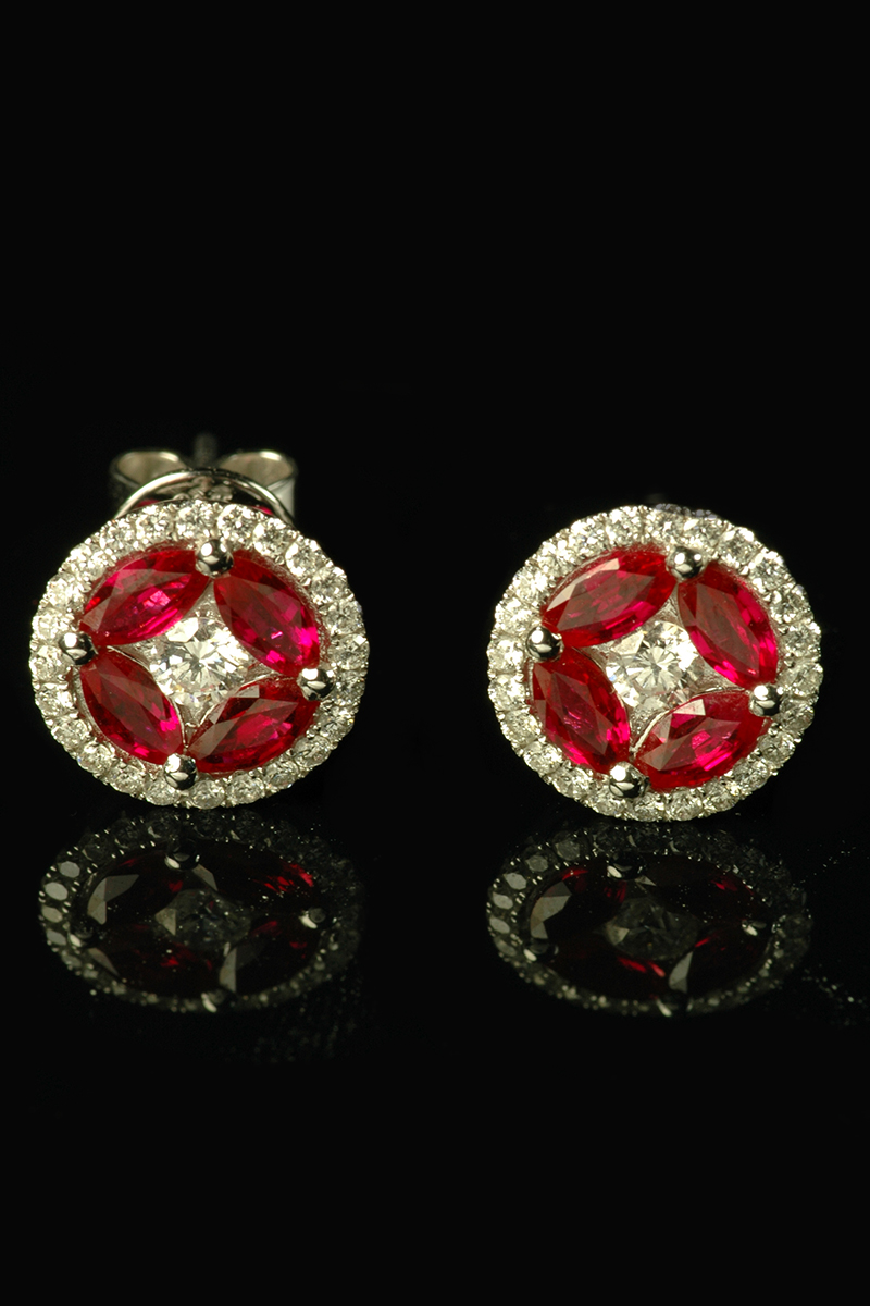 art deco ruby and diamond earrings1