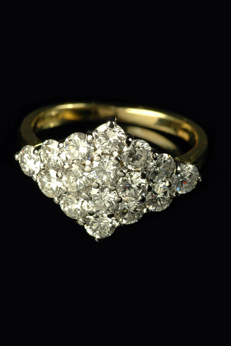 diamond cluster ring1