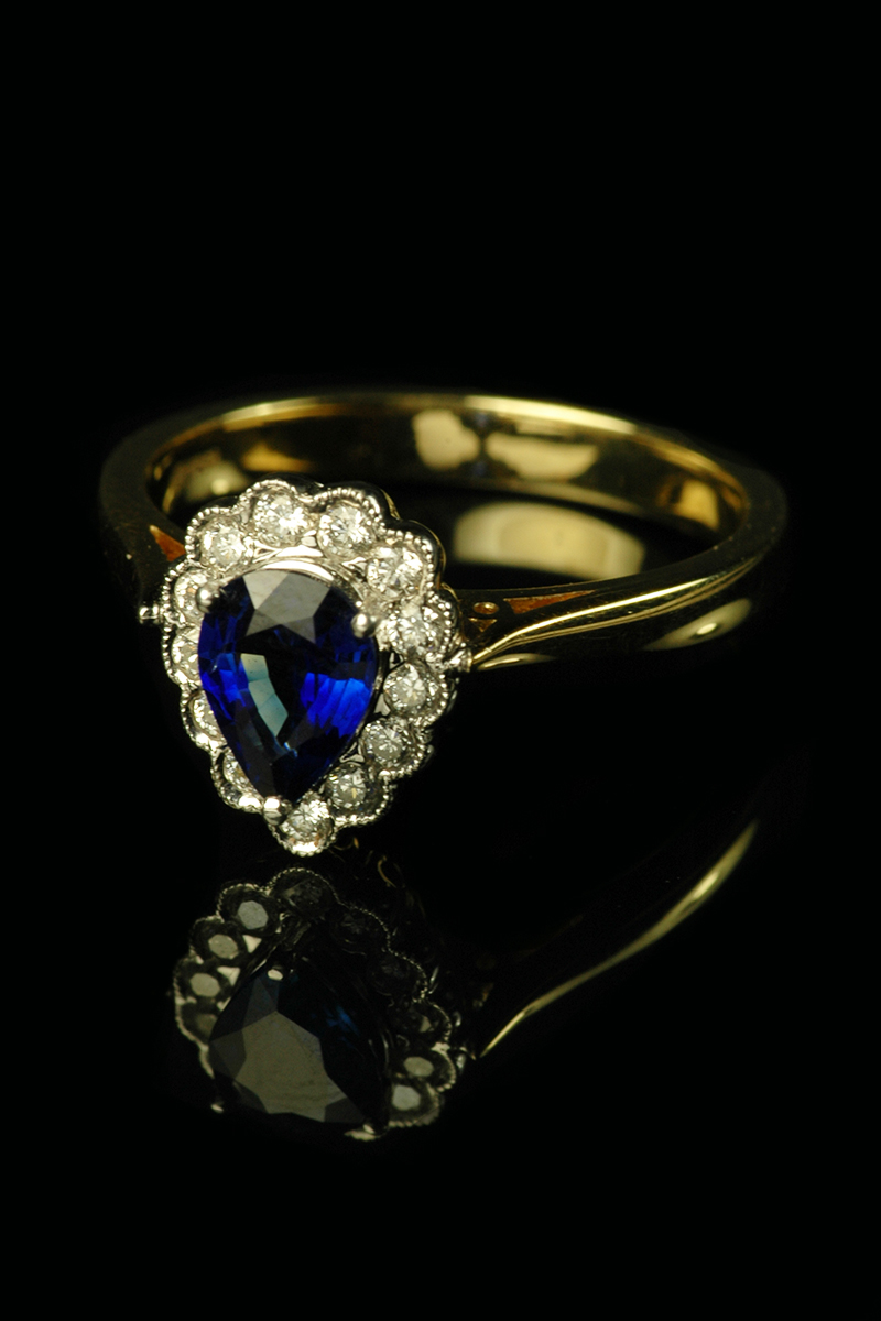 pear sapphire and diamond ring2