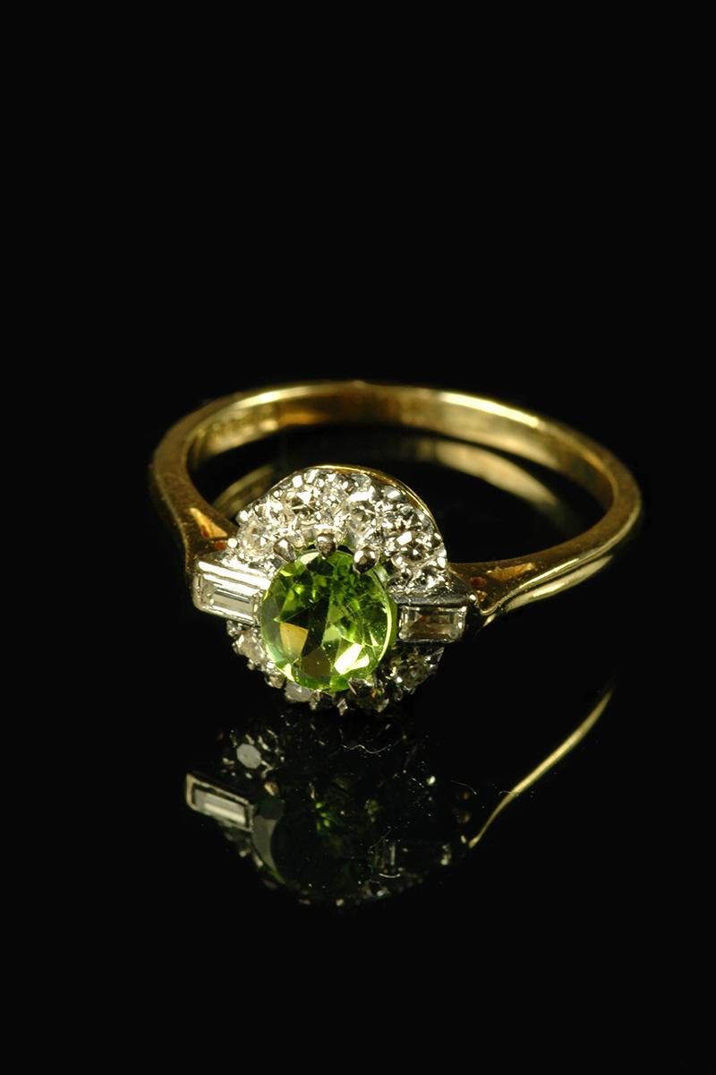 peridot and diamond ring1