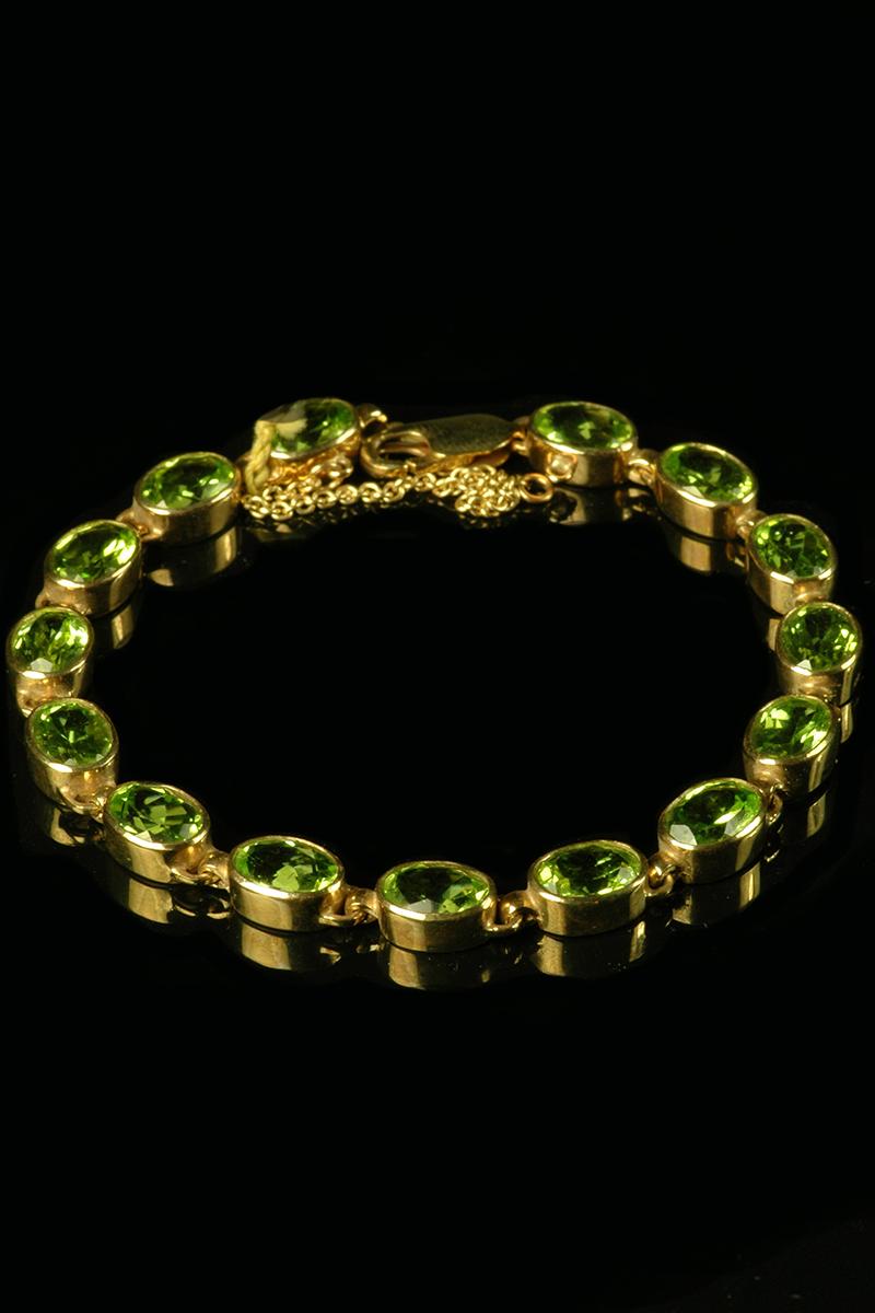 peridot bracelet 1
