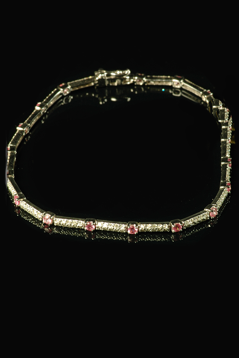 pink sapphire and diamond bracelet3
