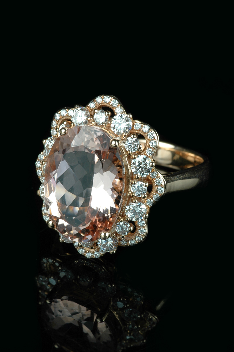 morganite-diamond-cluster2
