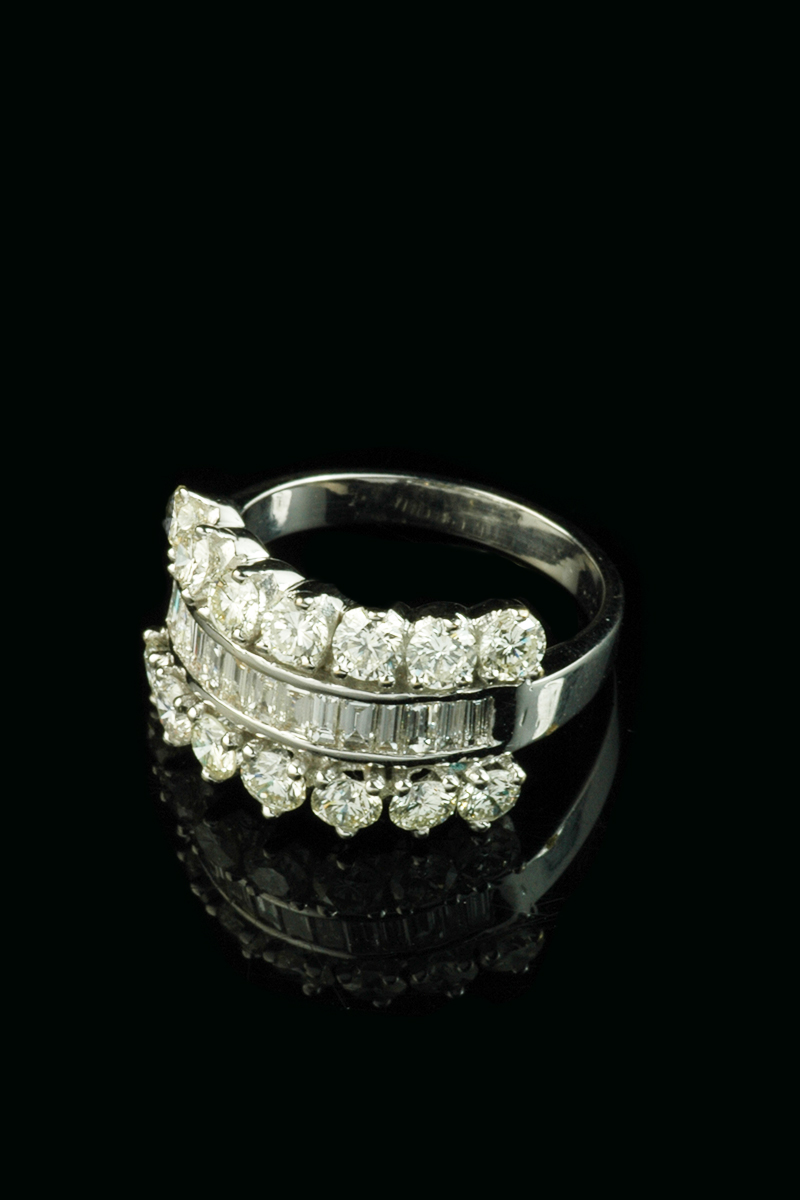 diamond 3row cluster ring2