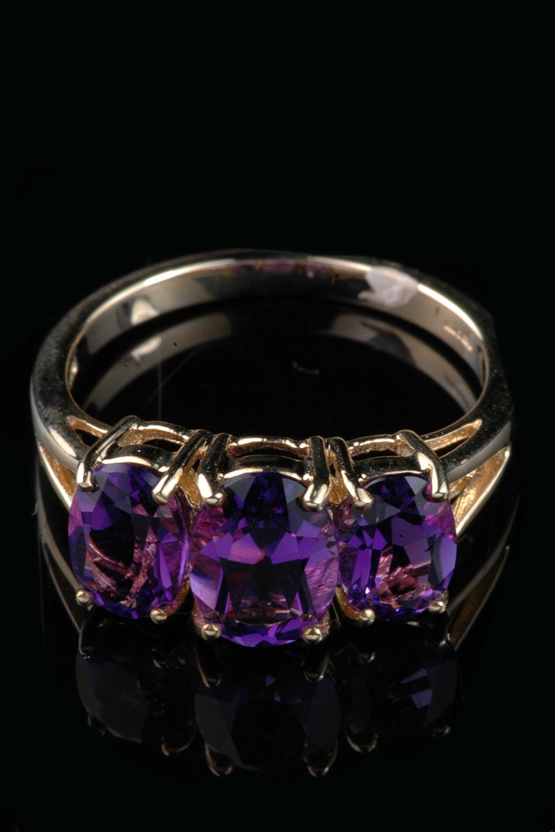 3 stone amethyst ring3
