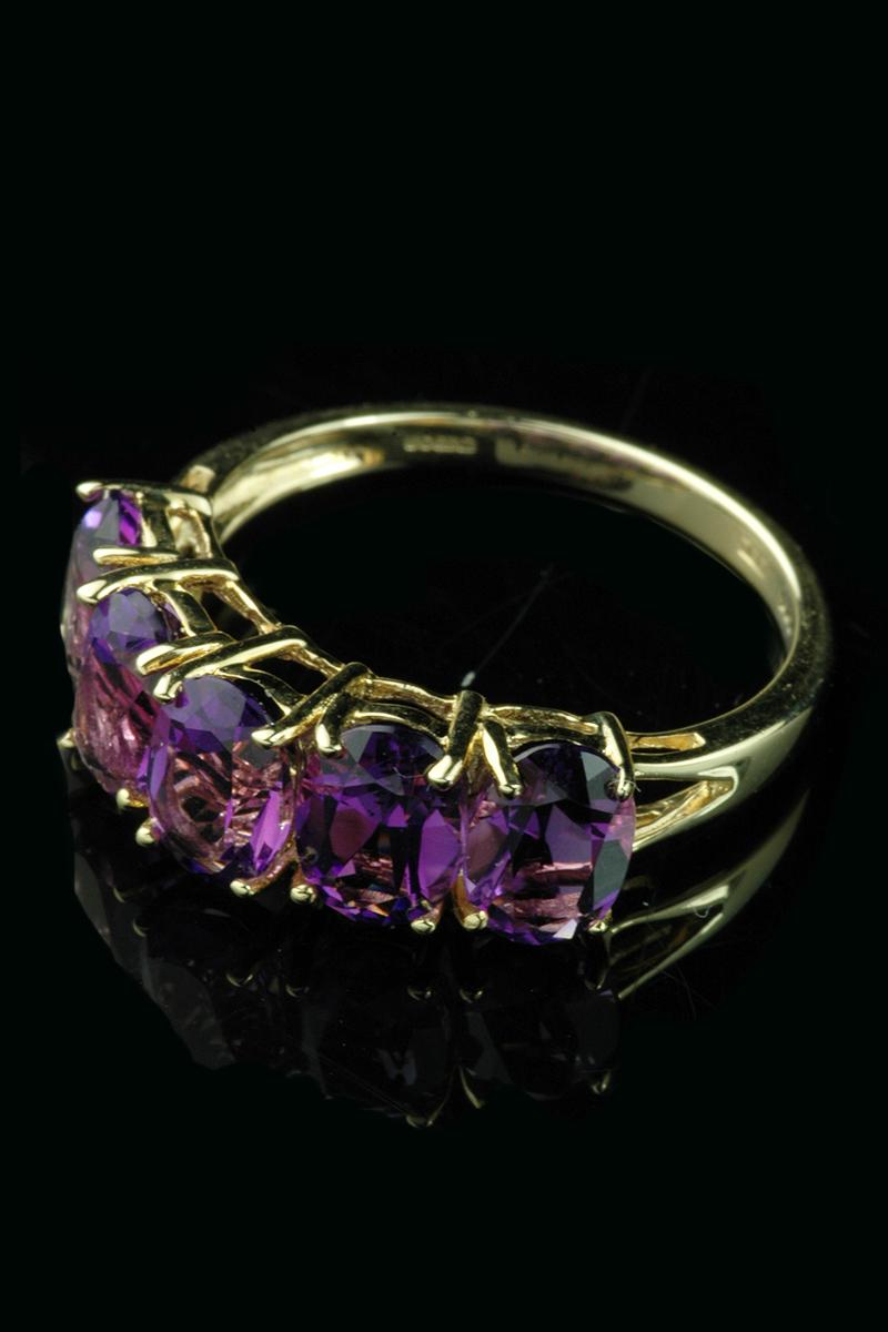 5 stone amethyst ring2
