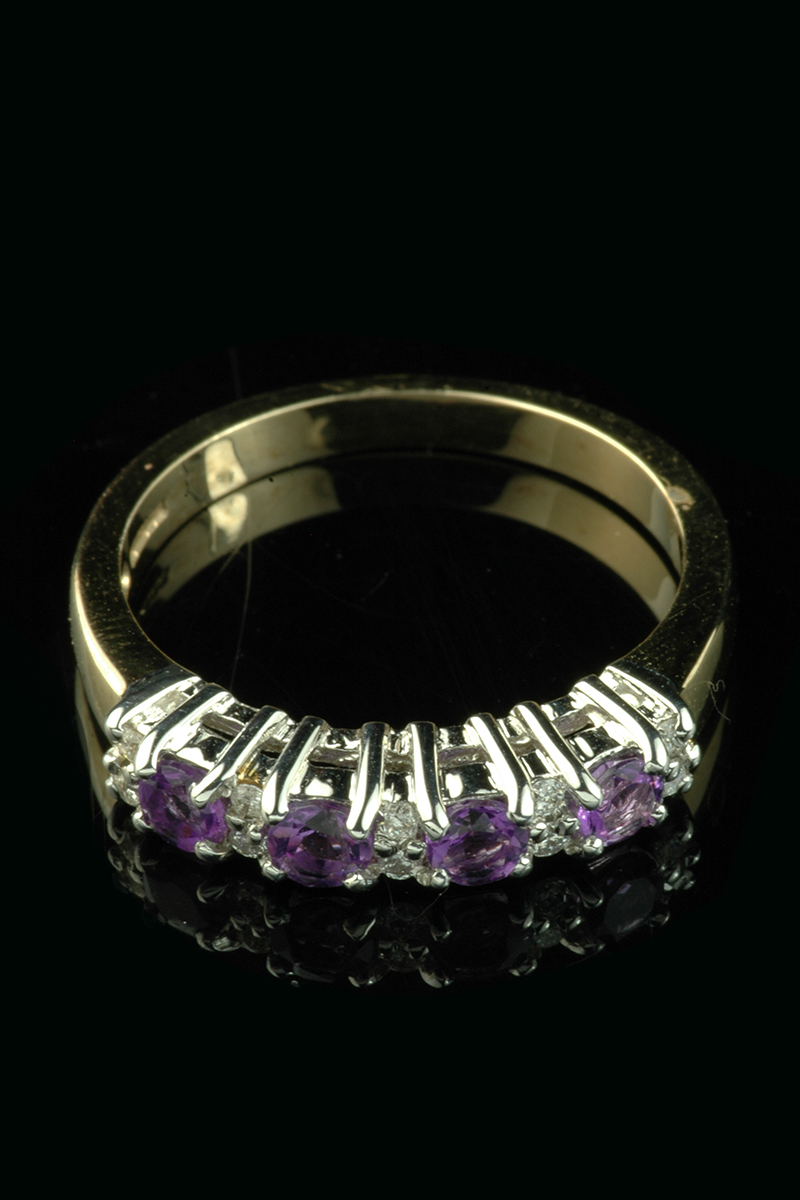 diamond amethyst eternity ring2