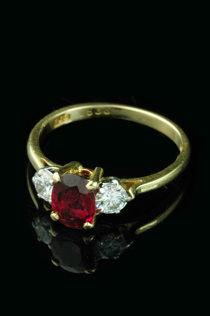 ruby diamond cluster ring6
